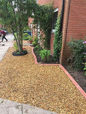 Tree Surgeon Runcorn - Low maintenance garden front
